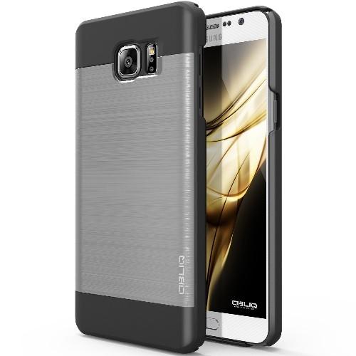 Galaxy Note 5 Case, OBLIQ [Slim Meta][Satin Silver/Black] - Thin Slim Fit Bumper Metallic Polycarbonate Finish All Around Prot