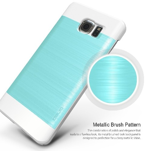 Galaxy Note 5 Case, OBLIQ [Slim Meta][Aqua Blue/White] - Thin Slim Fit Bumper Metallic Polycarbonate Finish All Around Protect