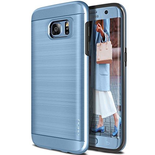 Galaxy S7 Edge Case, OBLIQ [Slim Meta][Blue Coral] Slim Fit Premium Dual Layer Protection Case with Metallic Brush Finish Back