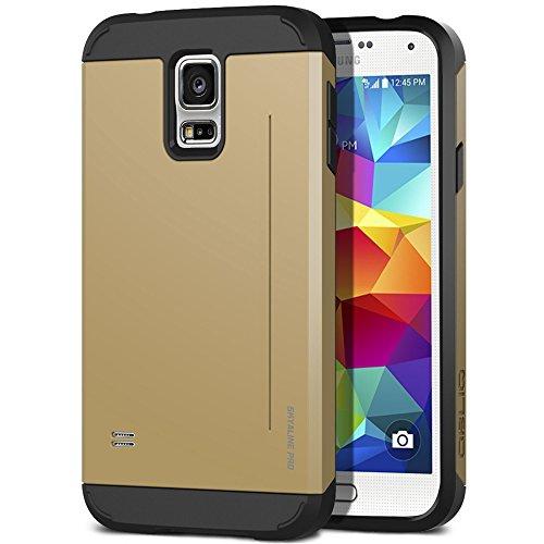Galaxy S5 Case, OBLIQ [Skyline Pro][Gold] + Screen Shield - Premium Slim Tough Thin Armor Fit Bumper Smooth Finish Dual Layere