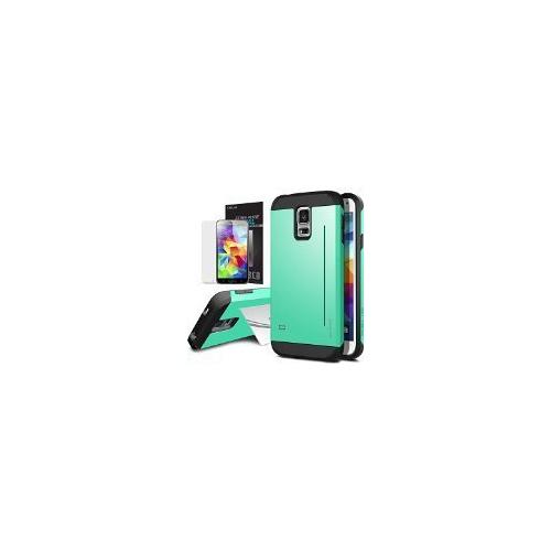Galaxy S5 Case, OBLIQ [Skyline Pro][Mint] + Screen Shield - Premium Slim Tough Thin Armor Fit Bumper Smooth Finish Dual Layere