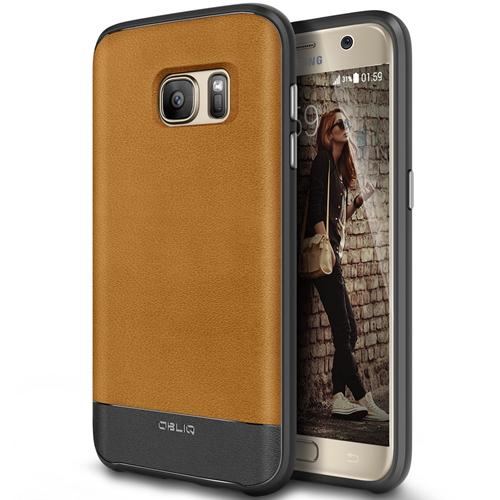 Galaxy S7 Case, OBLIQ [Flex Pro][Carbon] Premium PU Leather Slim Fit TPU Bumper Form Fitting Heavy Duty Protective Cover for G