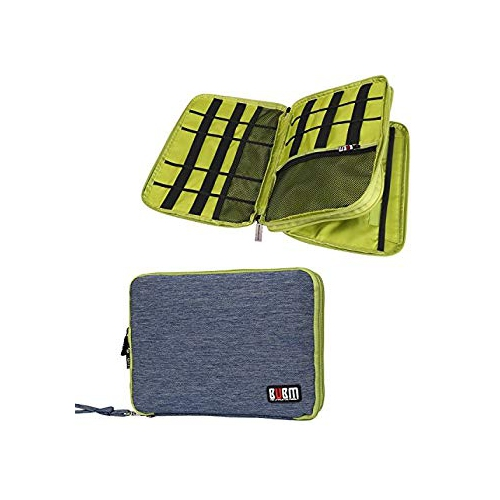 Travel Organizer, BUBM Universal Double Layer Travel Gear Organizer / Electronics Accessories Bag / cable organizer/Battery Ch