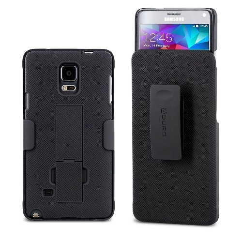 Aduro Shell Holster Combo Case for Samsung Galaxy NOTE 4 with Kick-Stand & Belt Clip (AT&T, Verizon, T-Mobile, US Cellular & S