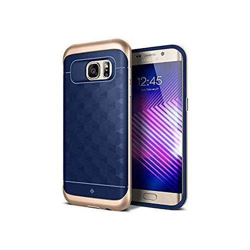 Galaxy S7 Edge Case, Caseology [Parallax Series] Slim Dual Layer Protection Textured Protective Cover Secure Grip [Navy Blue]
