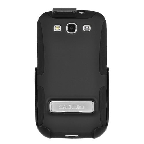Seidio BD2-HK3SSGS3K-BK DILEX Case with Metal Kickstand and Holster Combo for Samsung Galaxy S III - Combo Pack - Retail Packa