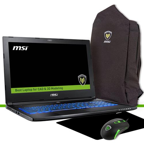Station de travail MSI WS60 7RJ-685CA 15.6in FHD E3-1505MV6 Quadro M2200 4GB 256 Go Ensemble ordinateur portable Win10 Pro