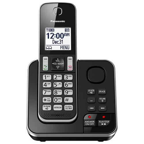 Panasonic 1 Handset Cordless Phone with Answering Machine ...