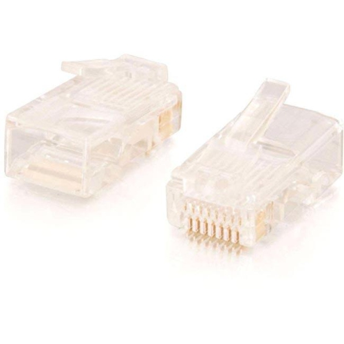 C2G/CABLES TO GO 11381 RJ45 CAT5 8 X 8 MODULAR PLUG FOR ROUND STRANDED CABLE 100PK ING-45941R
