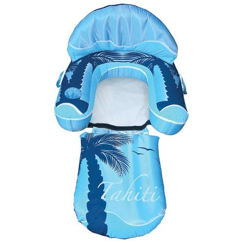 Chaise longue gonflable de piscine Drift + Escape de Blue Wave - Bleu