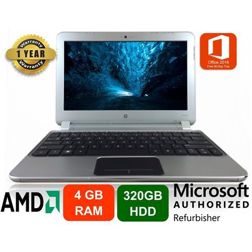 "HP 3105m Notebook PC, Écran 11.6"", AMD Dual Core, 4GB RAM, 320GB HDD, Windows 10 - Remis A Neuf"