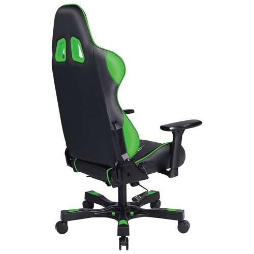Clutch Chairz Crank Poppaye Ergonomic Faux Leather Racing Gaming Chair - Black/Green