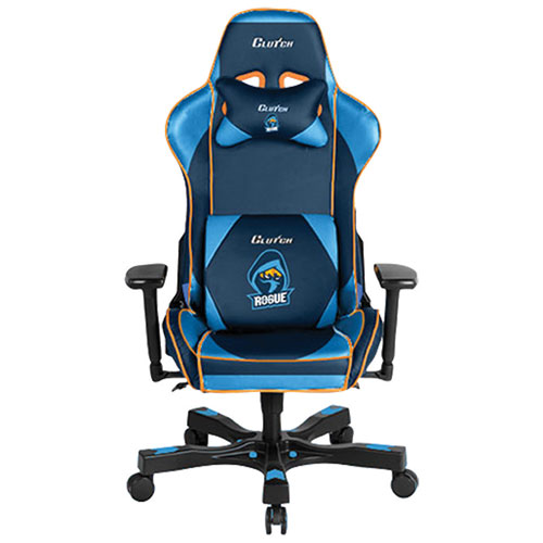 Clutch Chairz Crank Rogue Faux Leather Gaming Chair - Blue/Orange