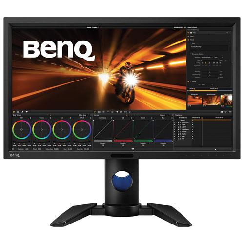 Moniteur DEL S-IPS WQHD 1440p 60 Hz 27 po de BenQ avec temps de réponse 5 ms gris à gris (PV270)