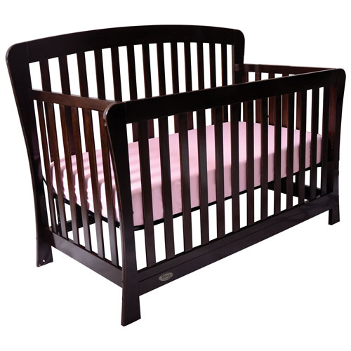 kidiway claire solid wood 4in1 convertible crib espresso - Convertible Baby Cribs