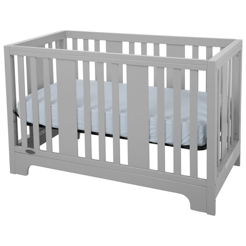 Kidiway Zeni 4 In 1 Convertible Crib Grey Baby Cribs