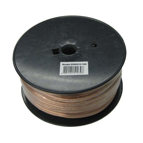 Electronic Master 100 Feet 2 Wire Speaker Cable, 12 AWG