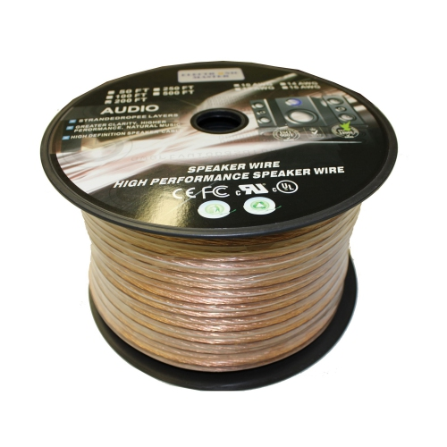 Electronic Master 200 Feet 2 Wire Speaker Cable, 12 AWG