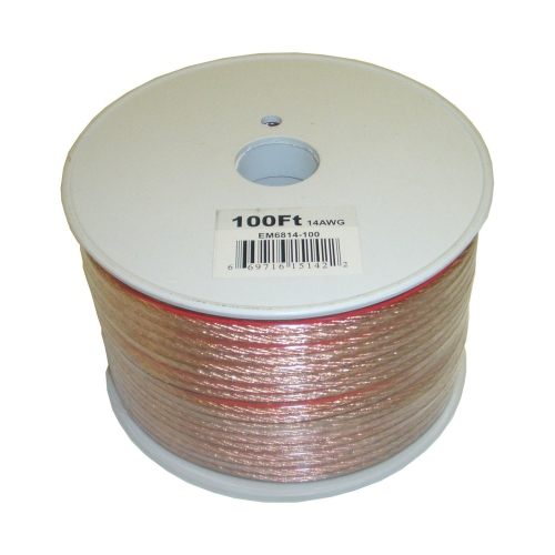 Electronic Master 100 Feet 2 Wire Speaker Cable, 14 AWG