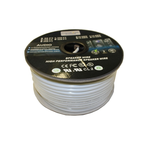 Electronic Master 250 Feet 2 Wire Speaker Cable, 12 AWG