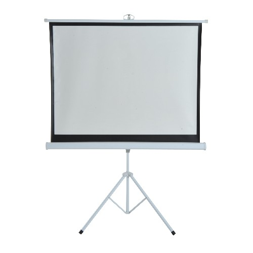 HomCom 4:3 Portable Folding Projection Screen Adjustable Easy Pull-up Home Cinema with Tripod Stand (120)