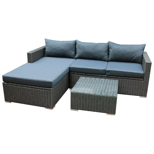 Marvelous Patioflare Emmett Contemporary 4 Piece Deep Seating Patio Lounge Set   Dark  Brown/Grey : Patio Sets   Best Buy Canada