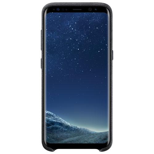Samsung Galaxy S8 Alcantara Fitted Soft Shell Case - Dark Grey