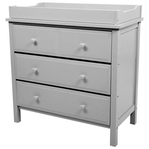 Kidiway Solid Pine Wood Moon Modern 3 Drawer Changing Table   Grey :  Nursery Dressers U0026 Bookcase   Best Buy Canada