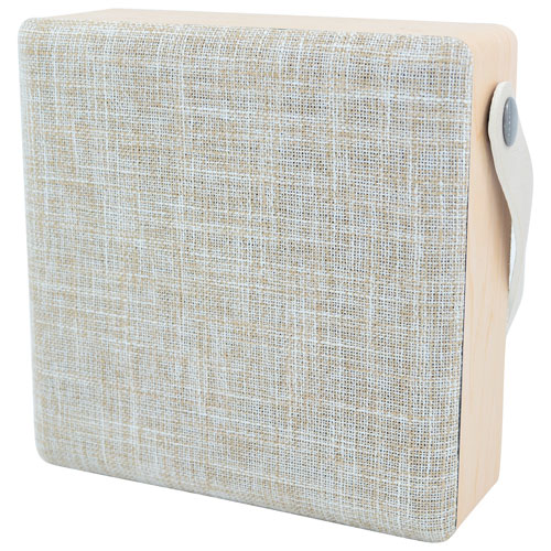 Sharper Image Mini Bluetooth Wireless Fabric Speaker - Beige