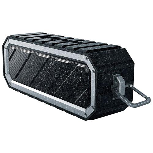 Enceinte sans fil Bluetooth étanche de Sharper Image - Noir - Gris