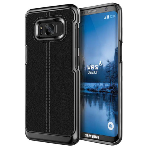 VRS Design Simpli Mod Fitted Soft Shell Case for Samsung Galaxy 8 Plus - Black
