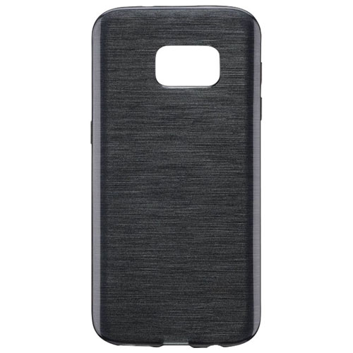 Blu Element Brushed Gel Skin Fitted Soft Shell Case for Galaxy S8+ - Black