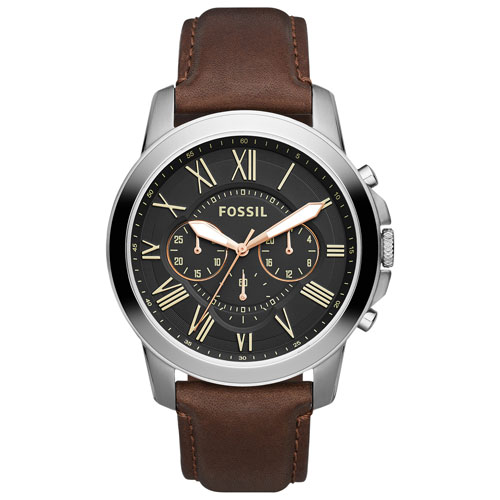 Fossil Grant 44mm Men s Analog Fashion Watch - Brown Black - Online Only 164bf88ffd