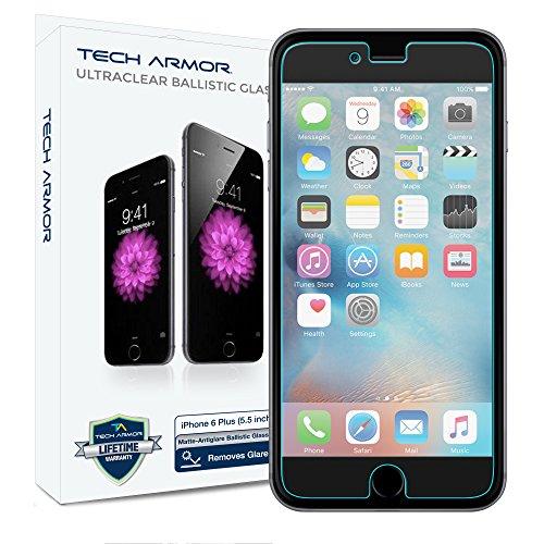 iPhone 6 Glass Screen Protector, Tech Armor AntiGlare Ballistic Glass Apple iPhone 6S / iPhone 6 (4.7-inch) Screen Protectors