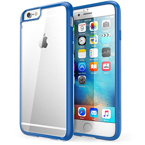 iPhone 6s Plus Case, [Scratch Resistant] i-Blason Clear Halo for Apple iPhone 6 Plus Case 5.5 Inch Hybrid Cover (Clear/Navy)