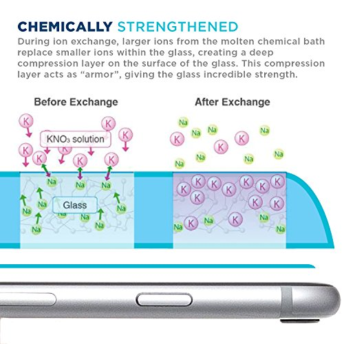 """iPhone 7 Screen Protector, Tech Armor Apple iPhone 7 (4.7"""") Prime Screen Protector made with Accessory Glass 2 By Corning?? (0"""