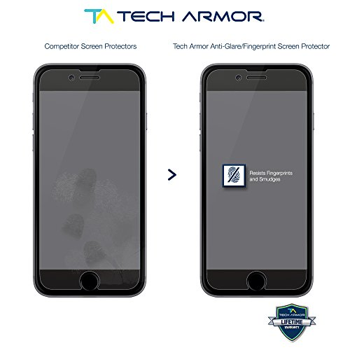 iPhone 6 Screen Protector, Tech Armor Matte Anti-Glare/Anti-Fingerprint Apple iPhone 6S / iPhone 6 (4.7-inch) Film Screen Prot