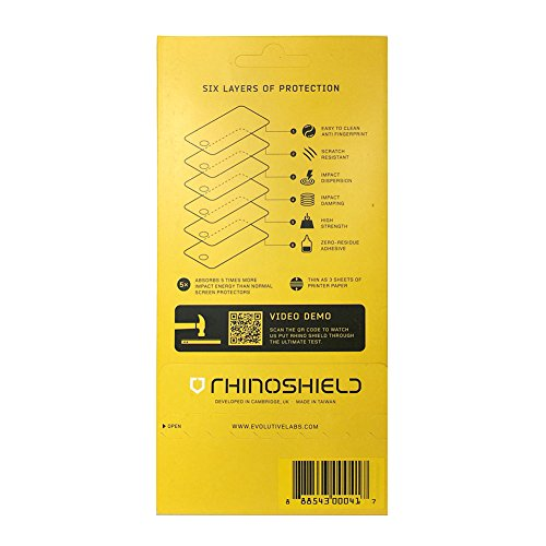 iPhone 6 Plus / 6S Plus Screen Protector - RhinoShield High Impact-Resistant Screen Protector [Hammer Resistant] Perfect Trans