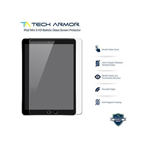 iPad Mini Glass Screen Protector, Tech Armor Premium Ballistic Glass Apple iPad Mini 1 / 2 / 3 Screen Protectors [1]