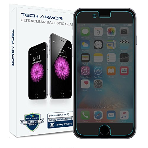 "Tech Armor Apple iPhone 6 Plus Premium Privacy Ballistic Glass Screen Protector ?????"" Protect Your Screen from Scratches and"