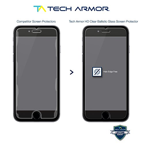"""Tech Armor iPhone 6 Plus & iPhone 6S Plus (5.5"""") Ballistic Glass Screen Protector - Protect Your Screen from Drops - 99.99% Cl"""