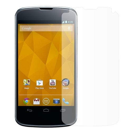 Seidio SPM1LGN4-2 Ultimate Screen Guard for LG Nexus 4, 2 Pack, Screen Protectors, Retail Packaging, Crystal Clear