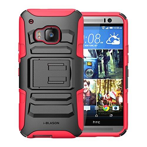 HTC One M9 Case ,i-Blason Prime [Kickstand] HTC One Hima H9 2015 Release [Heavy Duty] [Dual Layer] Combo Holster Cover case wi