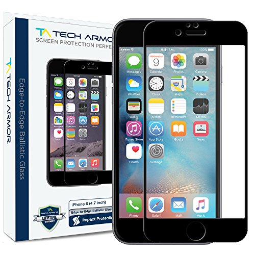 iPhone 6 Screen Protector, Tech Armor HYBRID Edge to Edge Glass (.2mm) Apple iPhone 6S / iPhone 6 (4.7-inch) Screen Protector