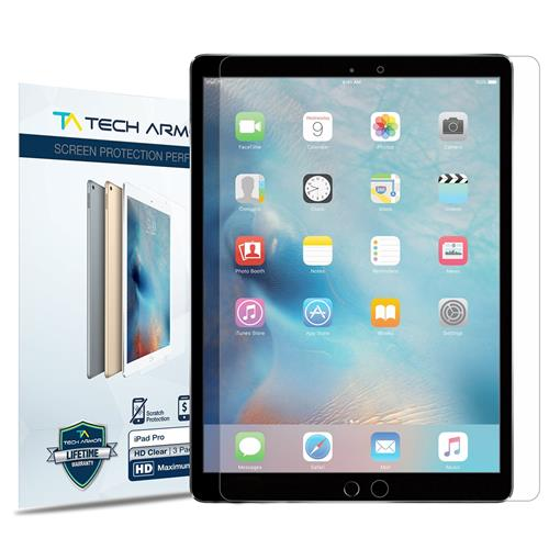 """iPad Pro (12.9"""") Screen Protector, Tech Armor High Definition HD-Clear Apple iPad Pro 12.9-inch Film Screen Protector [2-Pack]"""