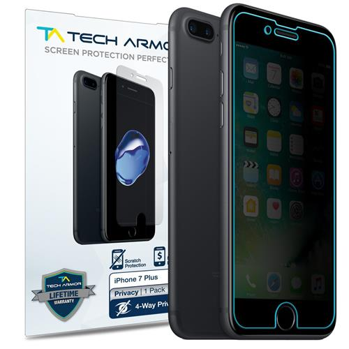 iPhone 7 Plus Privacy Screen Protector, Tech Armor 4Way 360 Degree Privacy Apple iPhone 7 Plus (5.5-inch) Film Screen Protecto