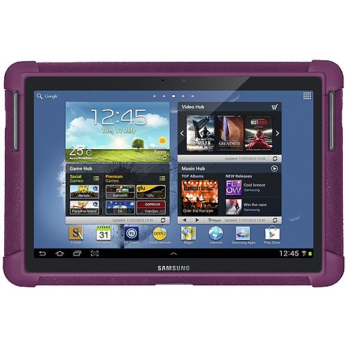 Amzer AMZ94663 Soft Silicone Jelly Skin Fit Case Cover for 10.1-Inch Samsung Galaxy Note GT-N8000/GT-N8013 (Purple)