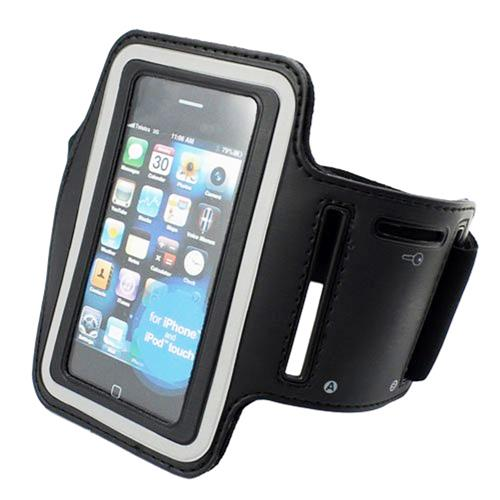 Exian Sports Arm Band for iPhone 3s/4/4s, iPod Touch 4 Black