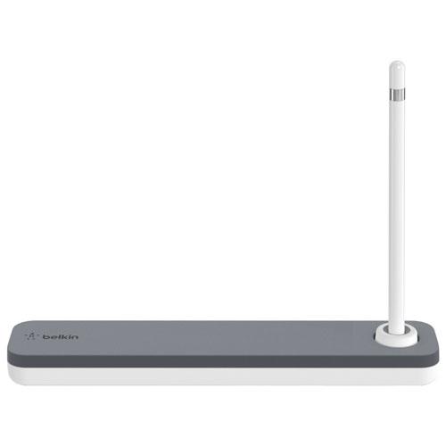 tui et support de belkin pour stylet apple pencil f8j206btgry blanc stylets pour tablette. Black Bedroom Furniture Sets. Home Design Ideas