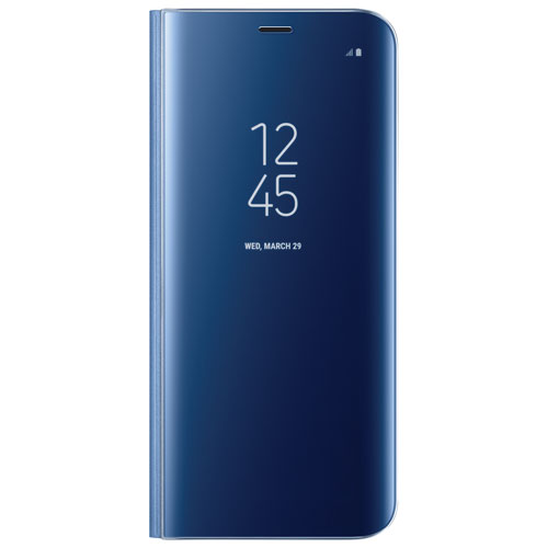 Samsung Clear View Standing Fitted Hard Shell Case for Galaxy S8 - Blue